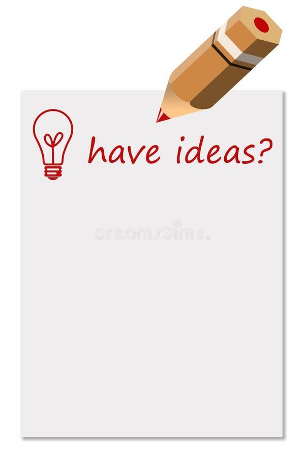 Ideas stock de ilustración