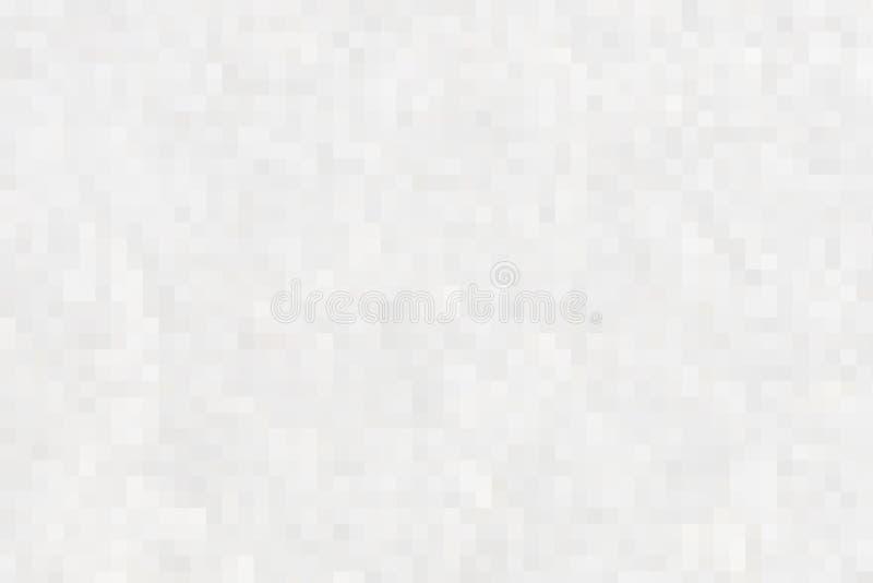 Ideas abstractas gráficas para sus banderas del diseño, libro, página web abstracta del fondo de los cuadrados blancos y grises d stock de ilustración