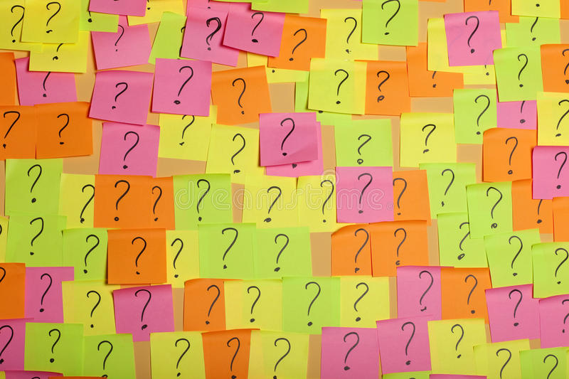 Ideas backgrounds. Questions or decision making concept royalty free stock photos