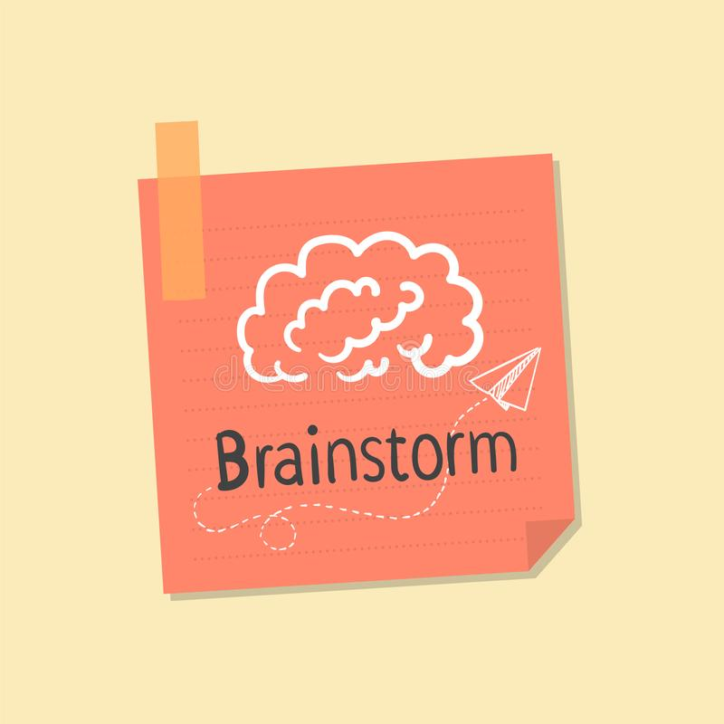 Ideas and brainstorming note illustration stock illustration