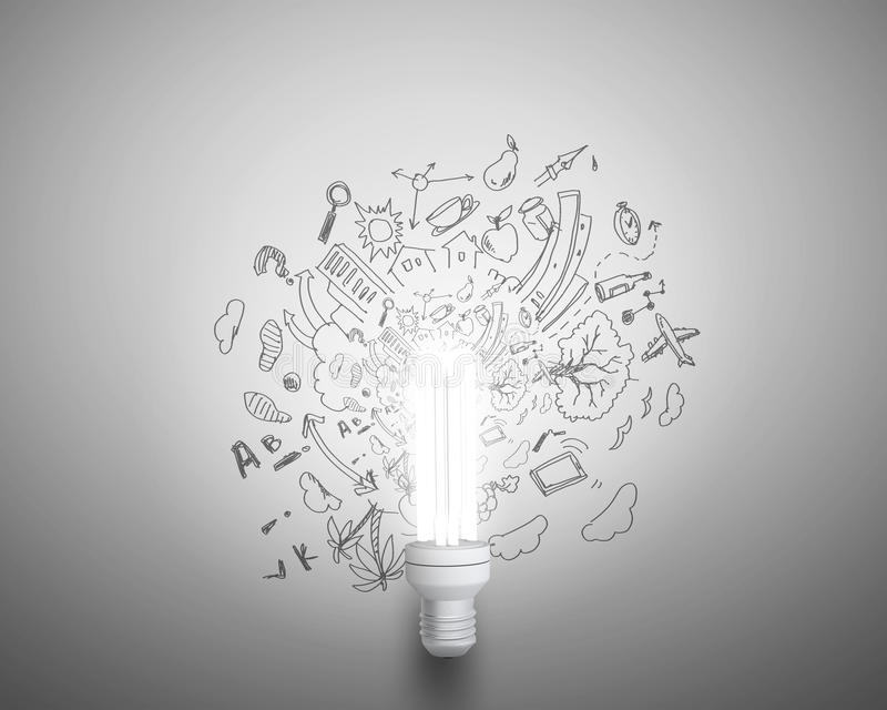 Ideas brillantes stock de ilustración