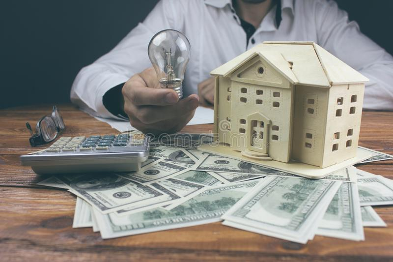 Ideas for buying a new home.  royalty free stock photos