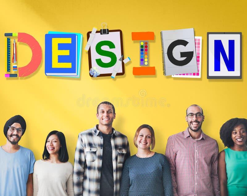 Ideas creativas del diseño que planean concepto de la creatividad foto de archivo libre de regalías