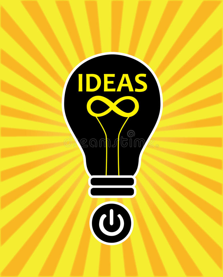 Ideas creativas infinitas stock de ilustración