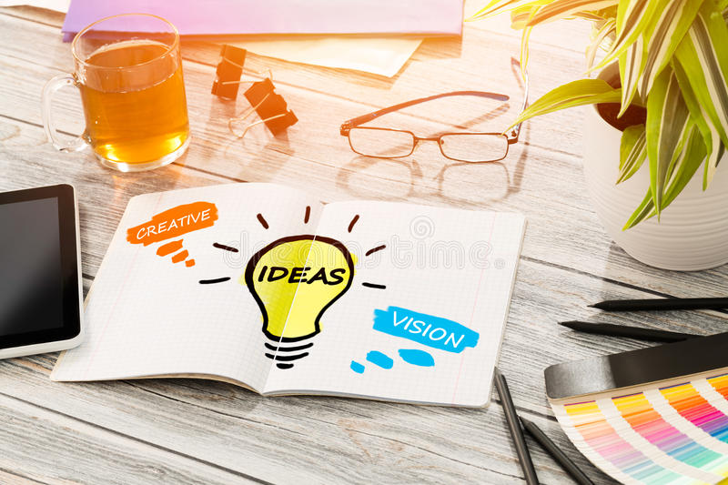 Ideas Creative Social Media Bulb Networking Vision. Ideas Creative Social Media Social Networking Vision Concept - Stock Image