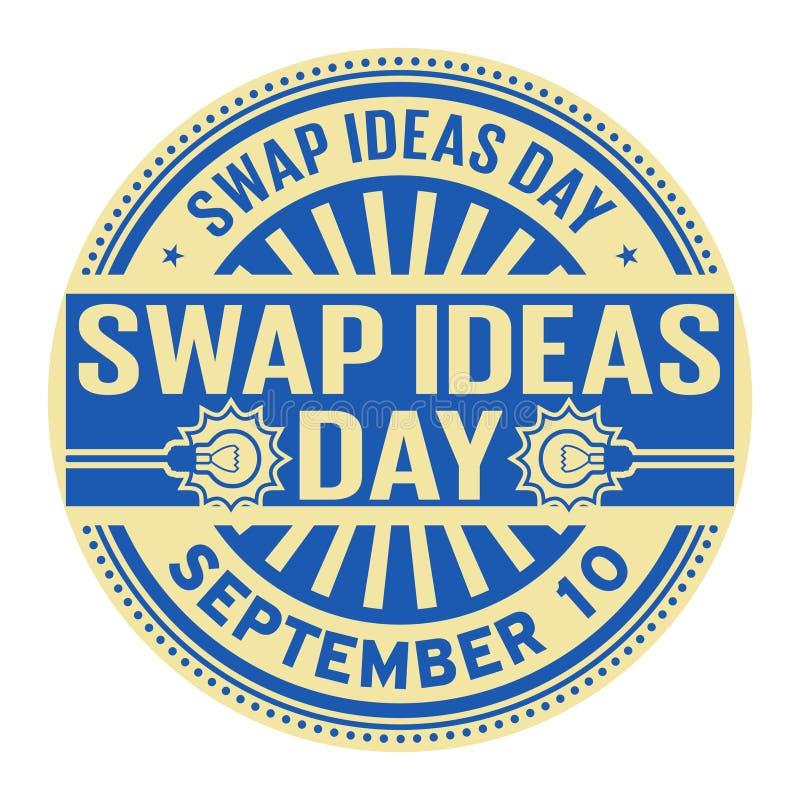 Ideas día del intercambio, el 10 de septiembre stock de ilustración