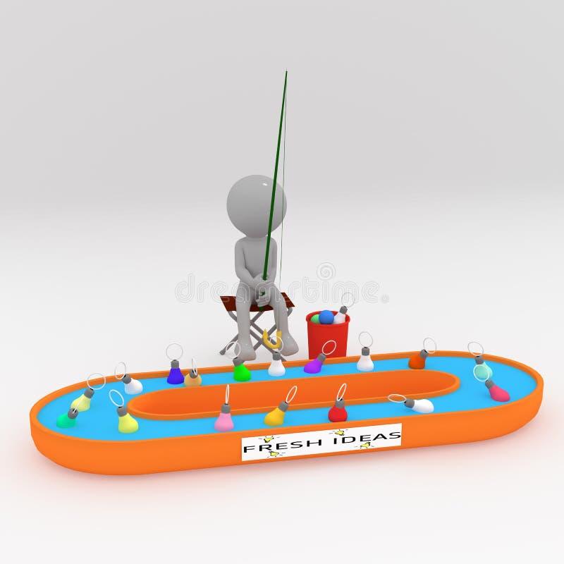 Ideas& da pesca ilustração royalty free