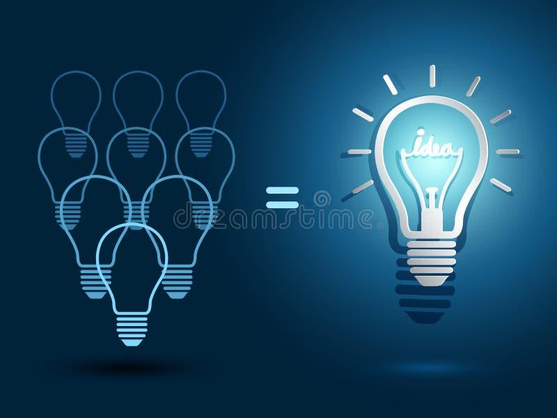 Download Ideas de la bombilla ilustración del vector. Ilustración de idea - 42429641