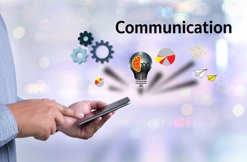 Ideas de la comunicación de la conexión, conexión Soci de la comunicación fotografía de archivo