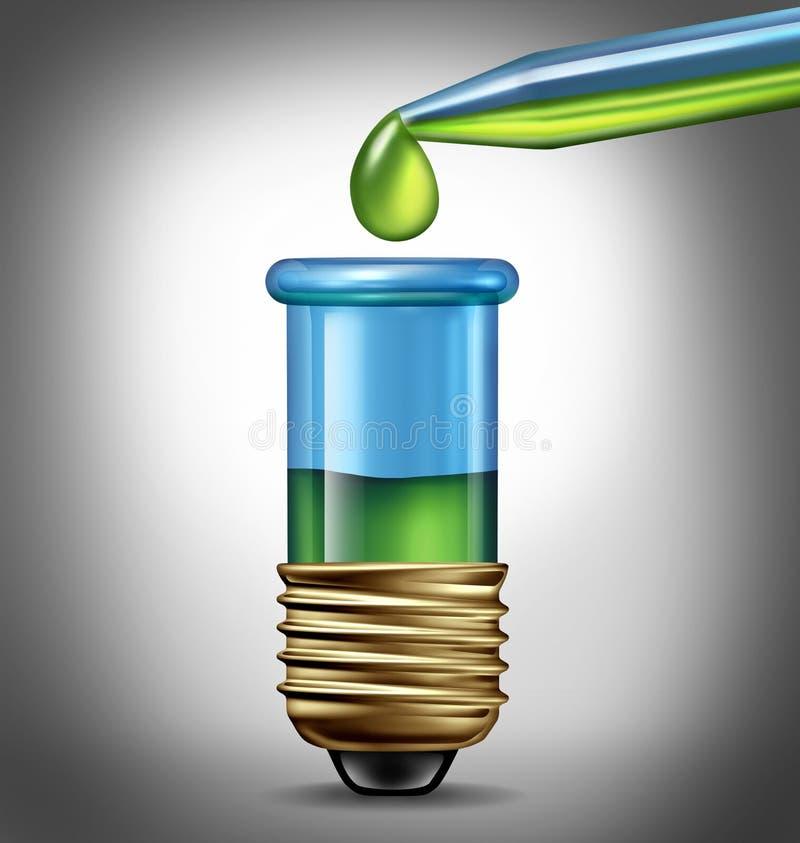 Ideas de la investigación científica stock de ilustración