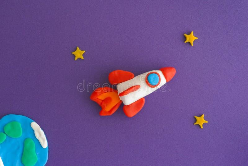 Ideas de Rocket Blasting Off For New del espacio fotografía de archivo libre de regalías