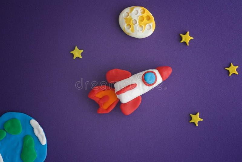 Ideas de Rocket Blasting Off For New del espacio foto de archivo