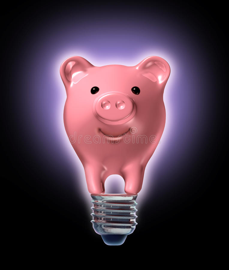 Ideas del ahorro del dinero ilustración del vector