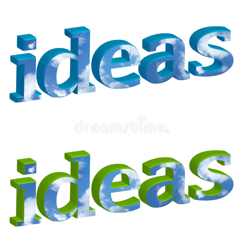 Ideas del cielo azul ilustración del vector
