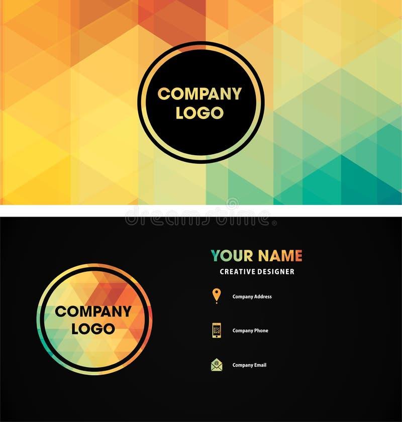 Ideas del modelo del logotipo del nombre de tarjeta libre illustration