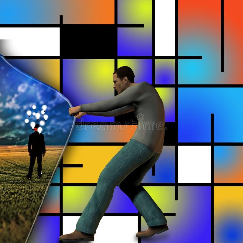 Ideas detrás del arte moderno ilustración del vector