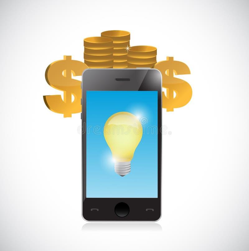 ideas en el dinero del efectivo libre illustration