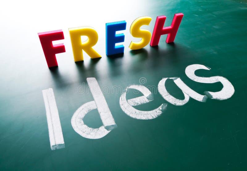 Ideas frescas, palabras del concepto imágenes de archivo libres de regalías
