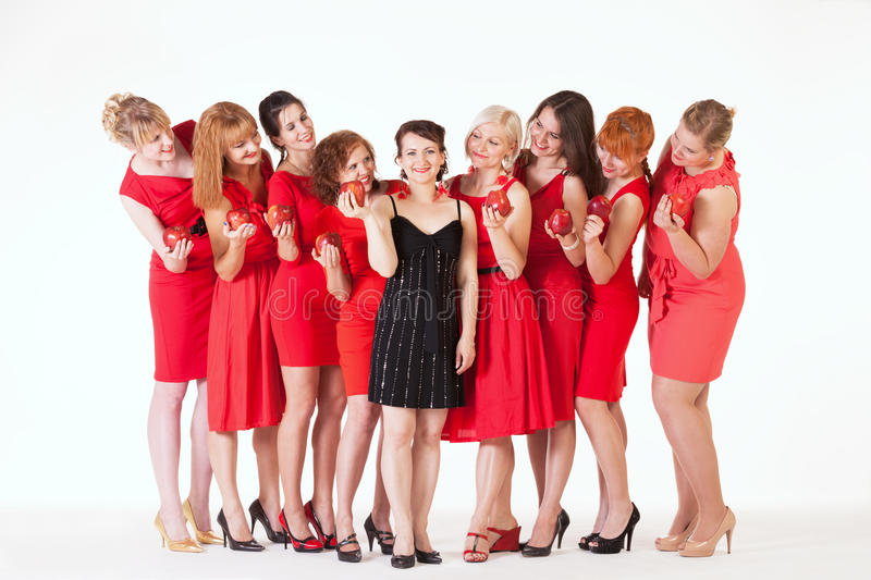 Ideas for hen party:. Let it be red royalty free stock images