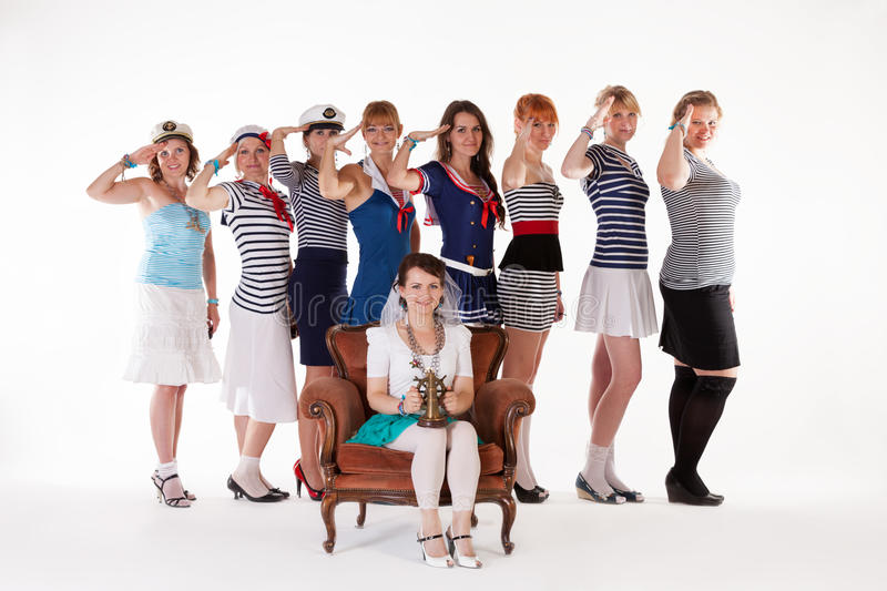 Download Ideas For Hen Party: Salute Your Bride Stock Image - Image: 26035157