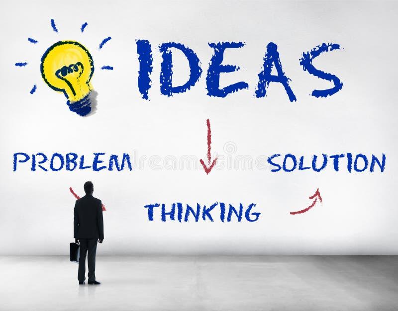 Ideas Innovation Lightbulb Icon Concept. Ideas Solution Innovation Lightbulb Icon royalty free stock photography