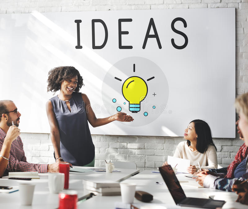 Ideas Lightbulb Innovation Thinking Icon Concept stock image