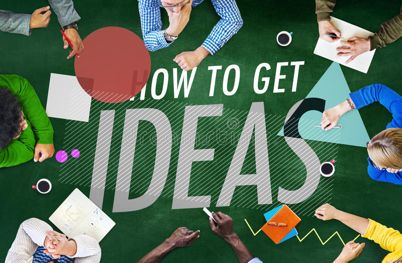 Ideas que piensan concepto de la creatividad de la inspiración del concepto stock de ilustración