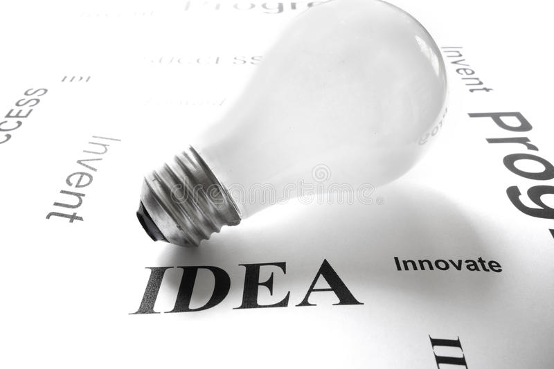 Download Ideas text stock photo. Image of lightbulb, think, advantage - 28764924