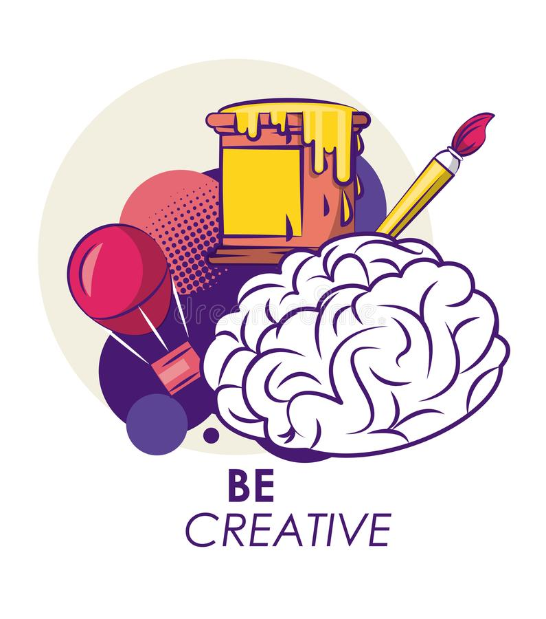 Ideas y colores creativos stock de ilustración