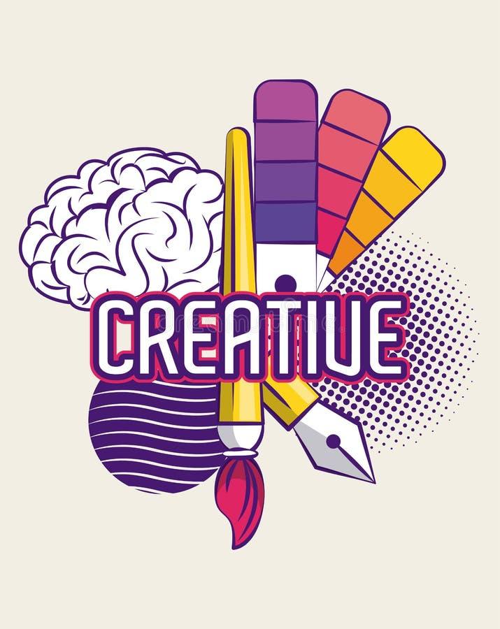 Ideas y colores creativos ilustración del vector