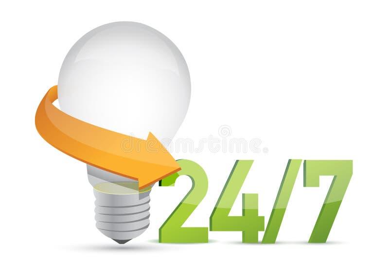 Download Ideeën 24 De 7 Dienst Bewegend Concept Stock Illustratie - Illustratie bestaande uit vier, service: 29509549