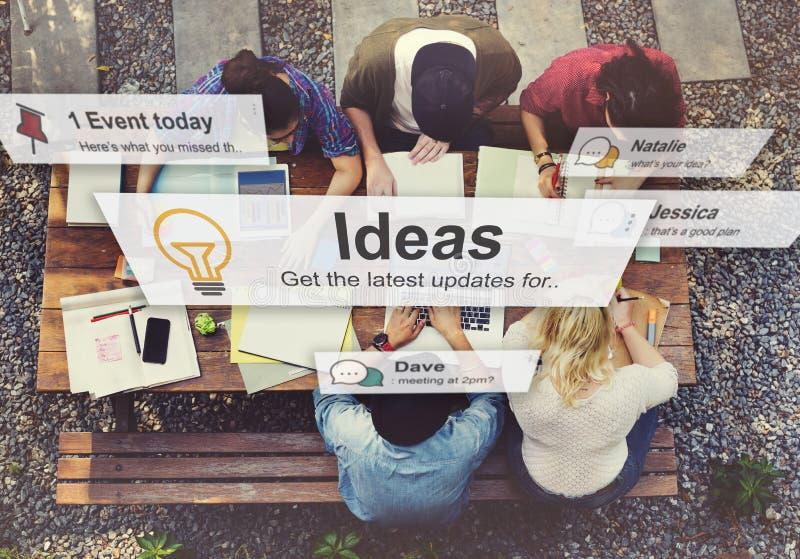 Ideeën die het Creatieve Concept van Opdrachtgedachten denken stock fotografie