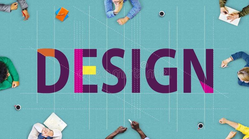 Ideeën die van het ontwerp de Creatieve Ontwerp het Concept van het Schetsplan plannen stock foto