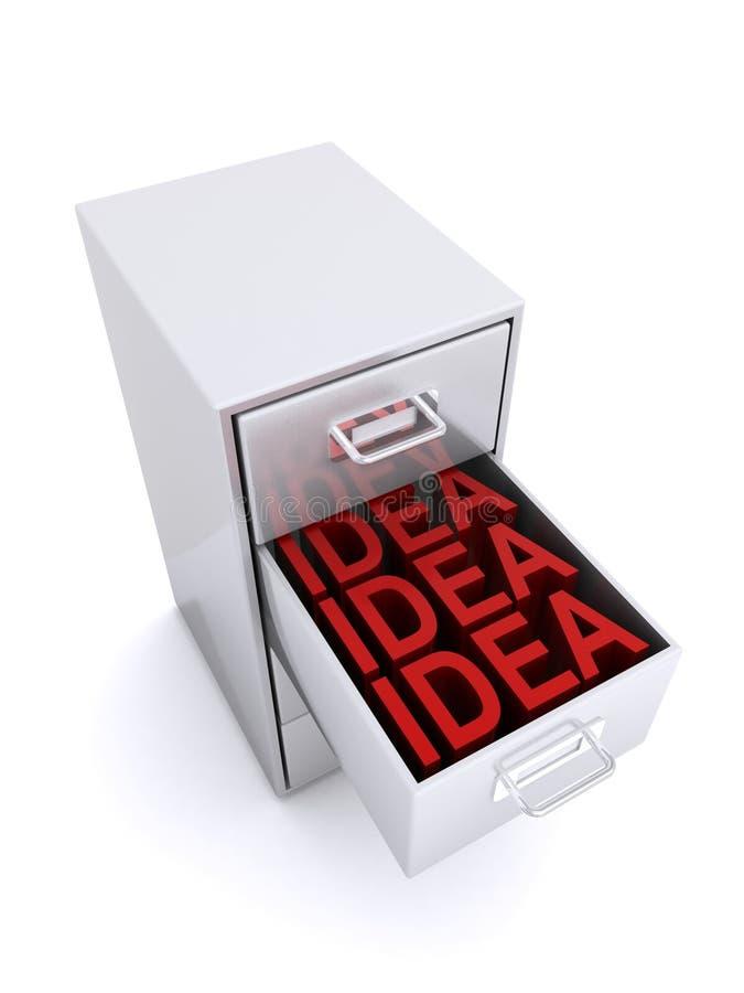 Ideeën in lade royalty-vrije illustratie