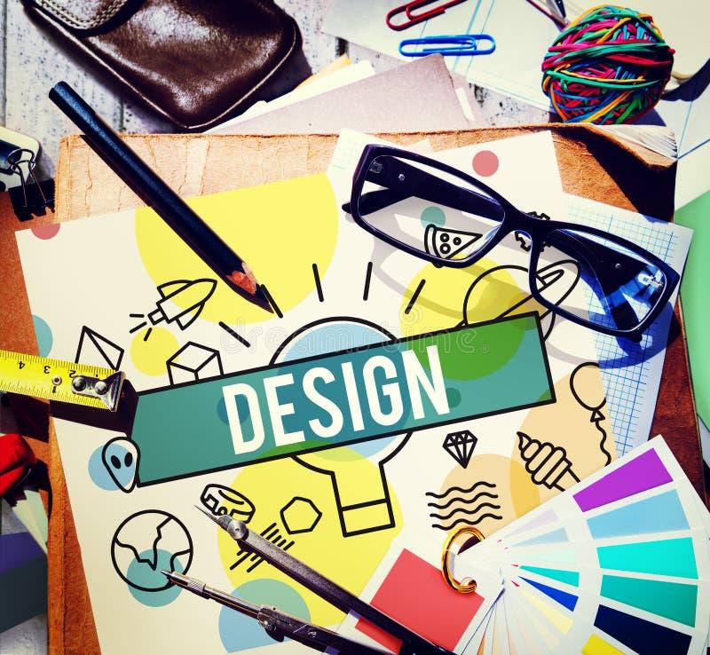Ideeën Modelplanning plan concept van het ontwerp de Creatieve Ontwerp stock fotografie
