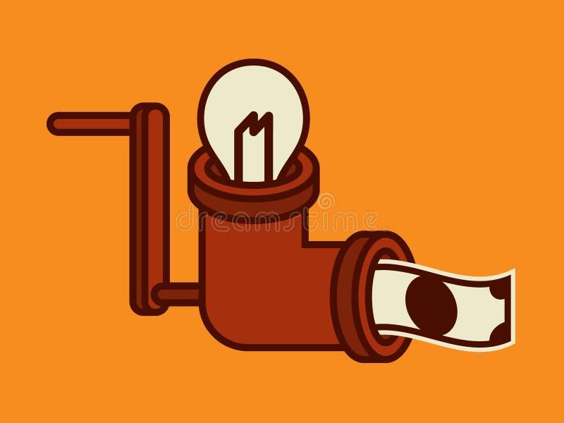 Ideeën om geld te maken stock illustratie