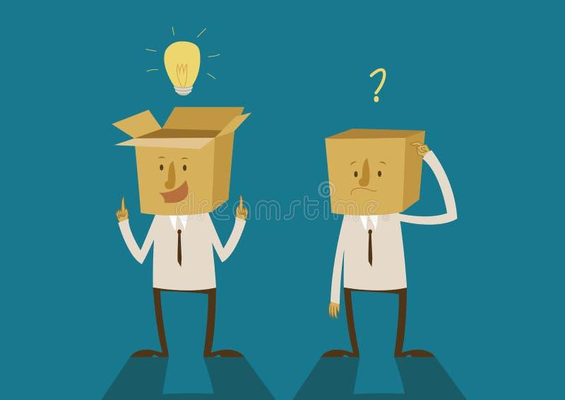 Ideeën van doos het denken royalty-vrije illustratie