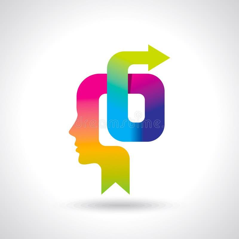 Ideeënuitwisseling met pijl - Illustratie vector illustratie