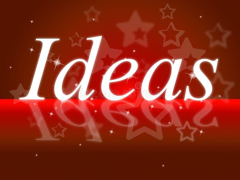 Ideeënword toont over het en Overpeinzing denk stock illustratie