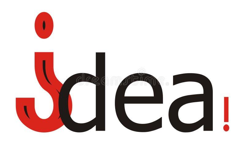 Idee! lizenzfreie stockbilder