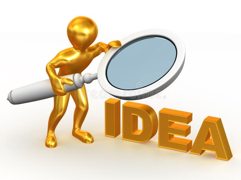 Idee. 3d stock abbildung