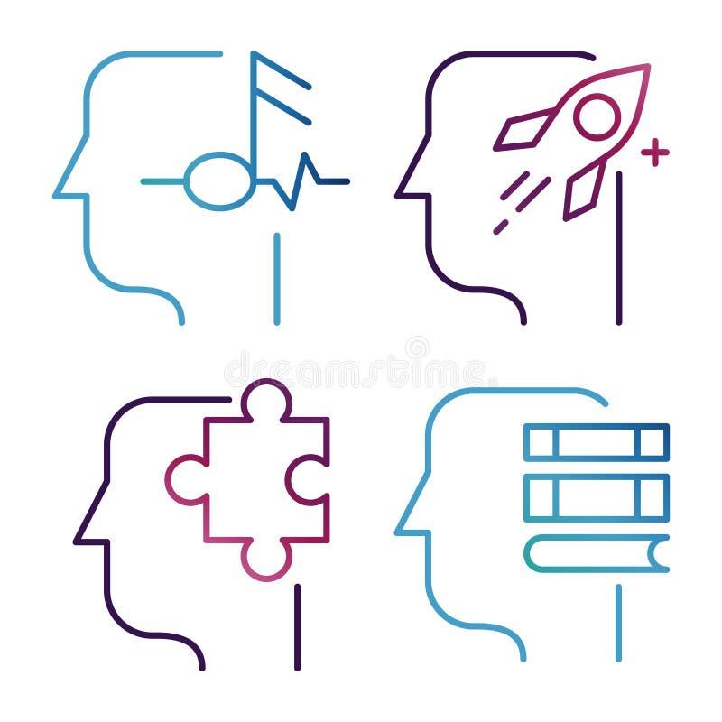 Idee, Brainstormingslinie Ikonenvektor lokalisiert auf weißem Hintergrund vektor abbildung