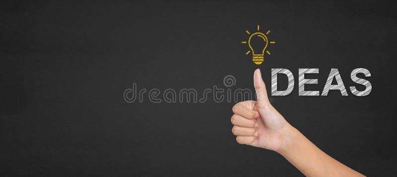 Idee concetto, mani della manifestazione eccellenti immagini stock