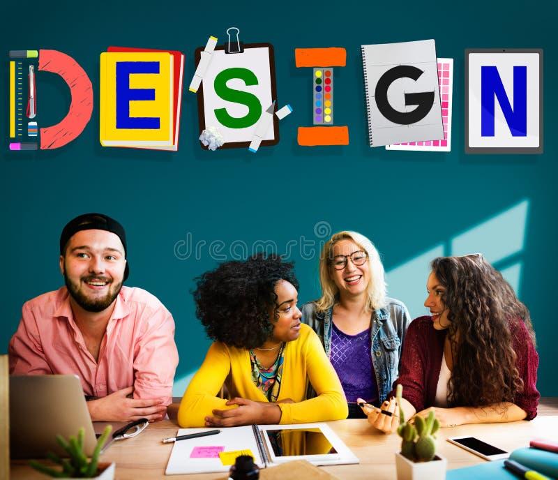 Idee creative di progettazione che progettano concetto di creatività fotografie stock