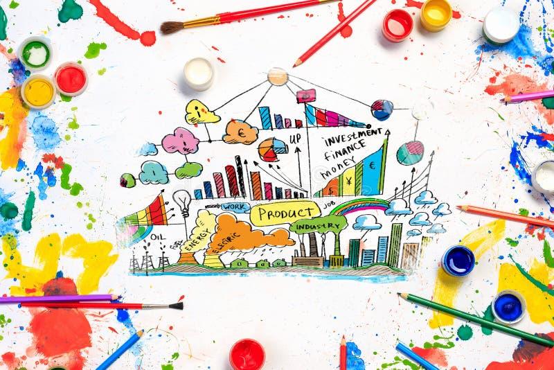Idee creative per il vostro affare immagine stock