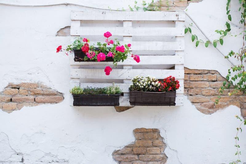 Idee del pallet per fare il giardinaggio immagine stock for Idee per realizzare una fioriera