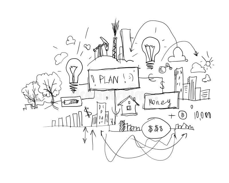 Idee di affari illustrazione vettoriale