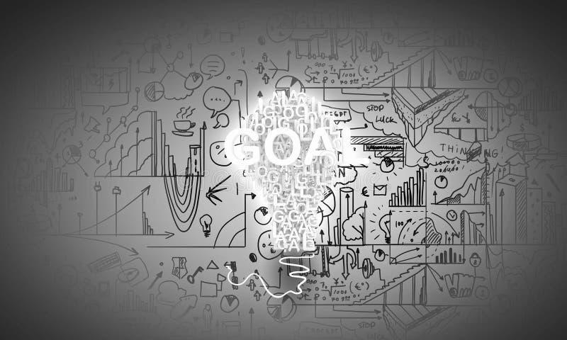 Idee e scopi di affari illustrazione vettoriale