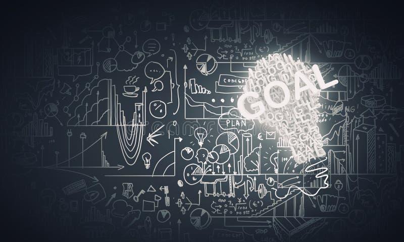 Idee e scopi di affari illustrazione di stock