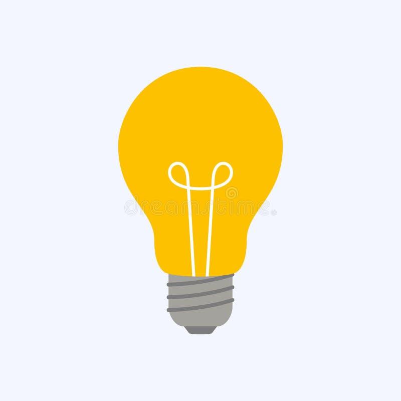 Idee ed innovazione leggere del segno illustrazione di stock